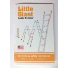 Little Giant Ladder Operating and Safety Instructions, Owners Manual