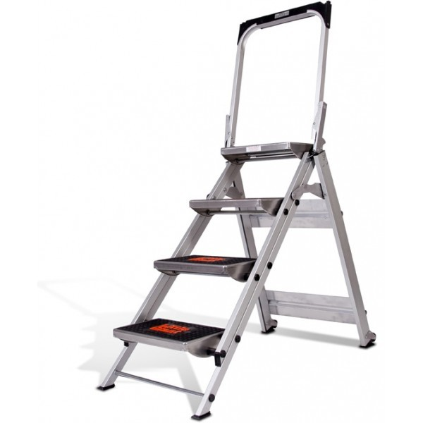 Little Giant Safety Step Stepladder (Little Jumbo) 4 Step #10410BA