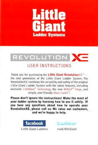revolution user instructions owners manual laddersales com rh laddersales com giant owner manual version 8.0 giant owner manual version 8.0